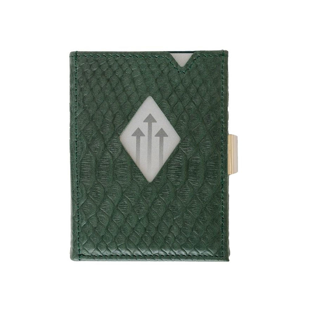 Exentri Leather Wallet Green Cobra