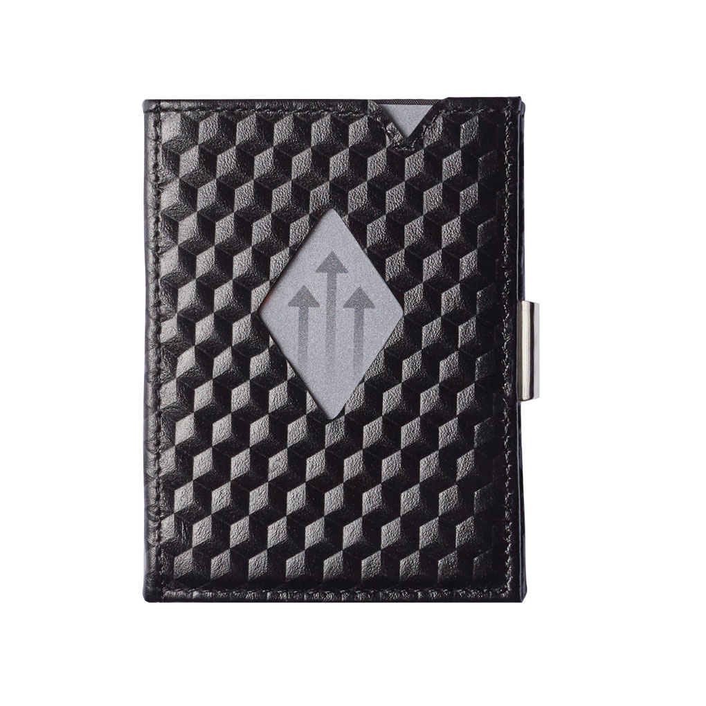 Exentri Leather Wallet Black Cube