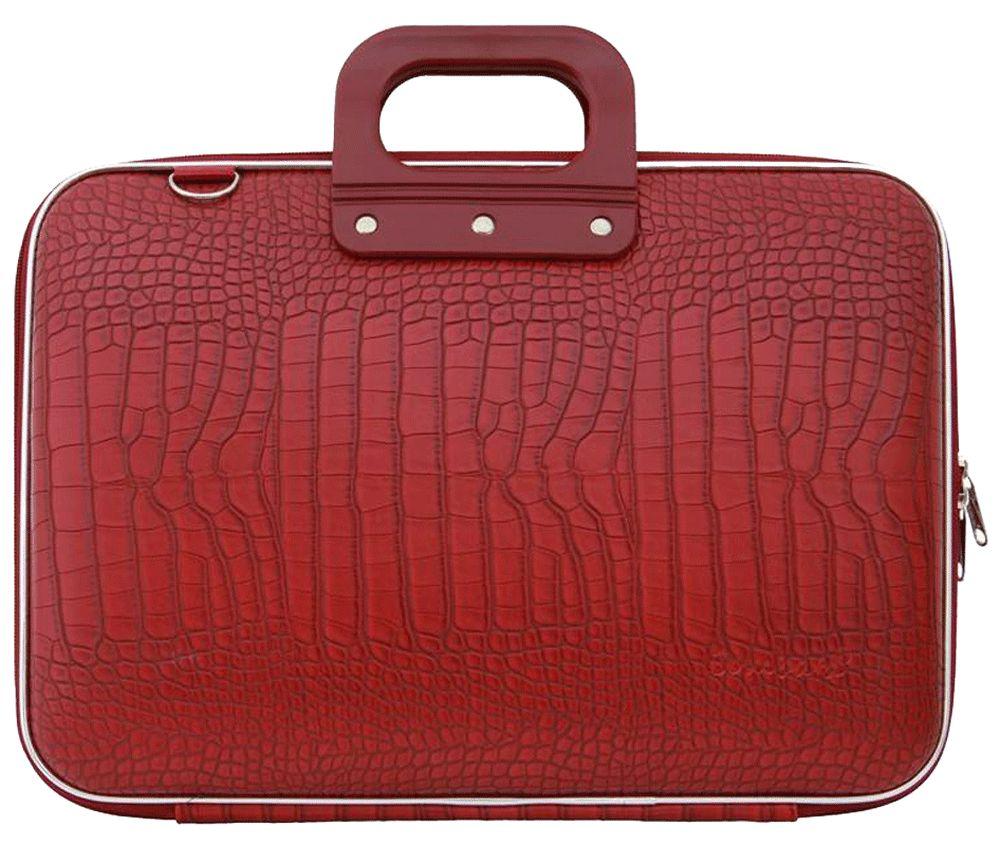 Bombata Croco Hardcase Laptoptas 17 inch Red