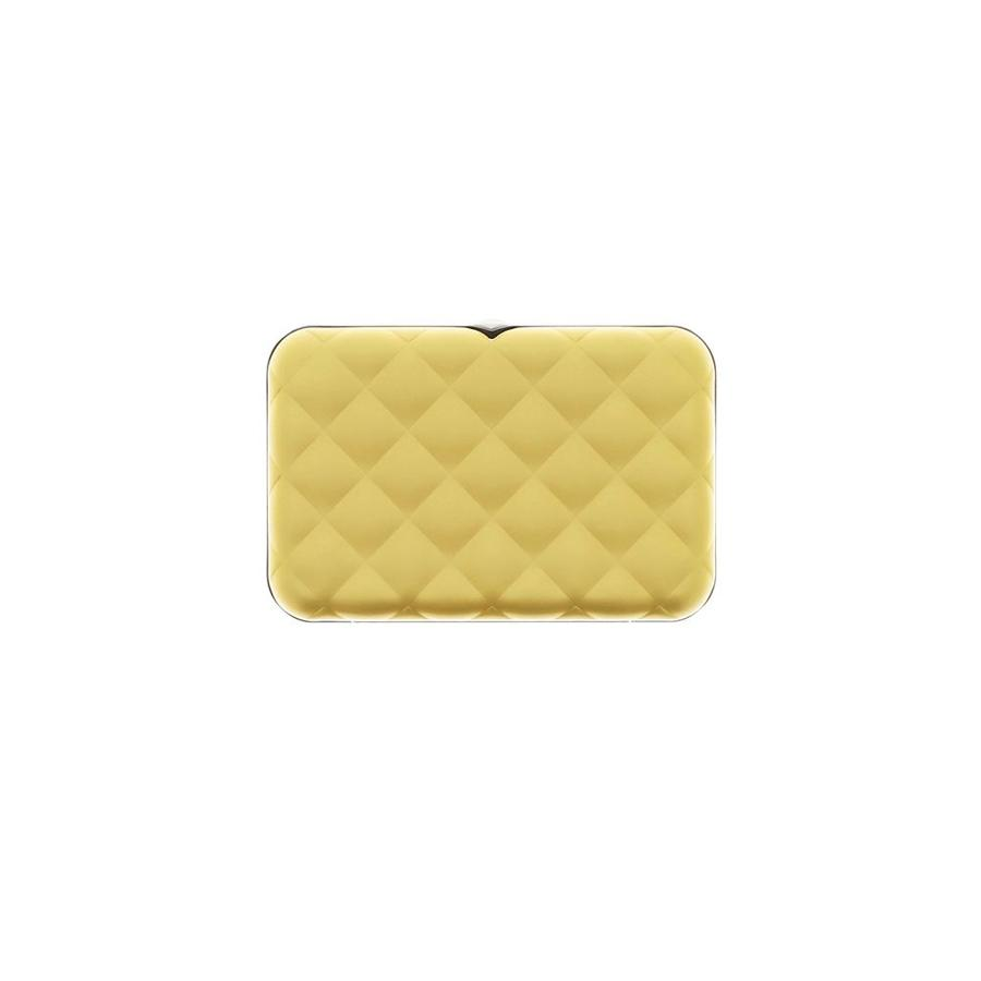 Ogon Dames Creditcardhouder Quilted Button Gold