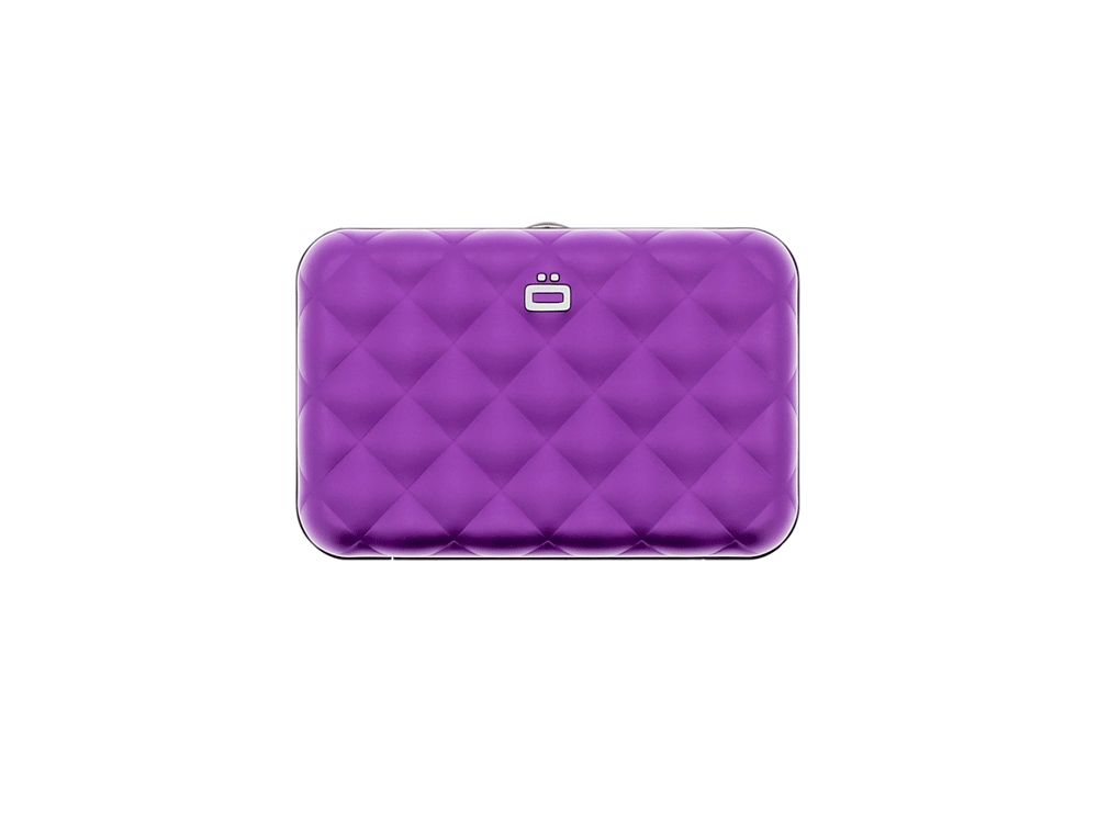 Ogon Dames Creditcardhouder Quilted Button Purple