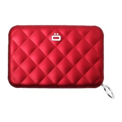 Ogon Dames Creditcardhouder Quilted Zipper Red
