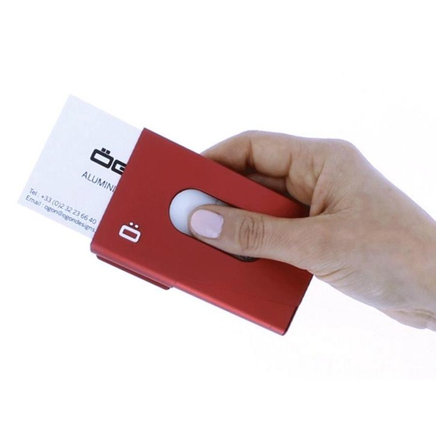 Ogon Business Cardholder One Touch Red