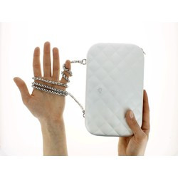 Ogon Clutch Quilted Lady Bag Silver