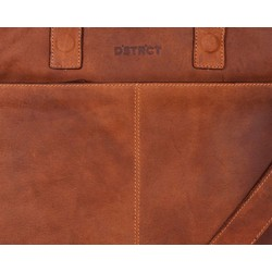 DSTRCT ALFA Wall Street Laptoptas 15,4 inch Cognac