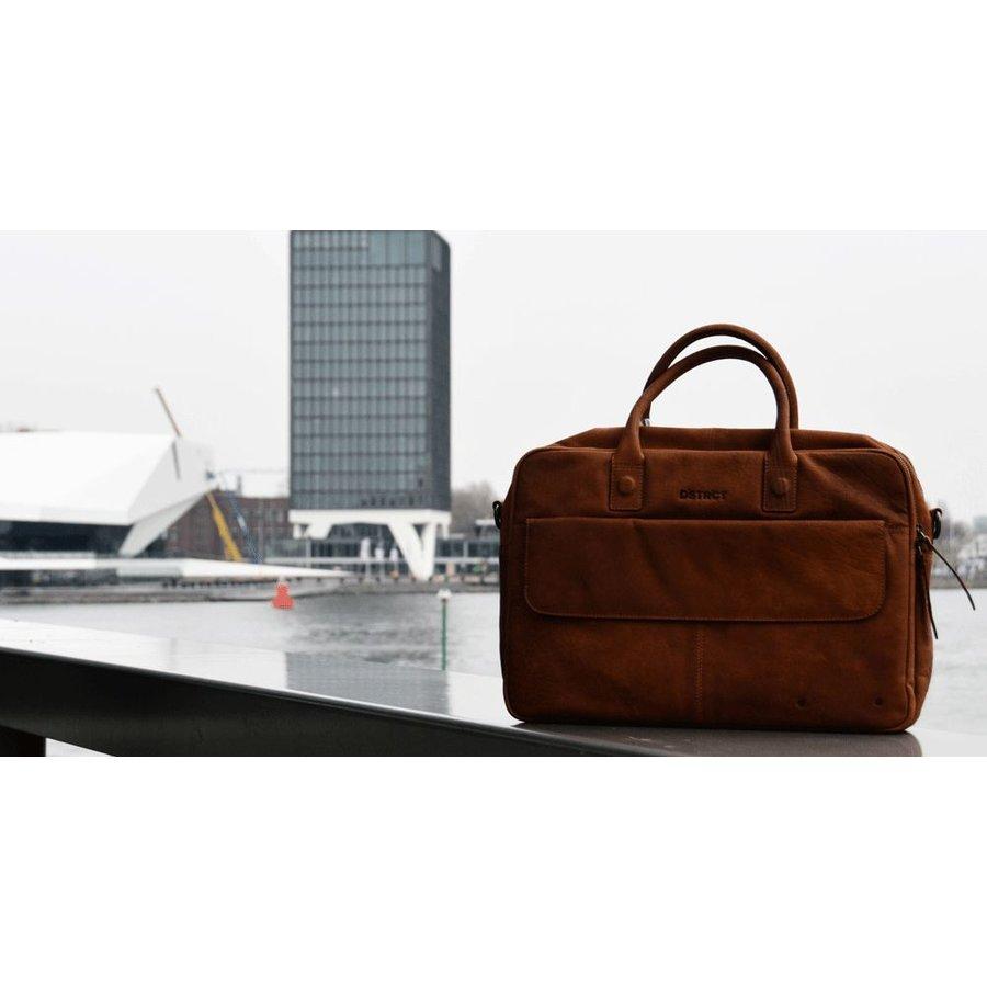 DSTRCT Wall Street Delta Laptoptas 17 inch Cognac