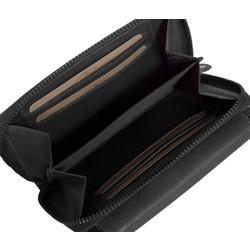 Chesterfield Compacte Leren dames portemonnee met ritsvak Ascot Zwart