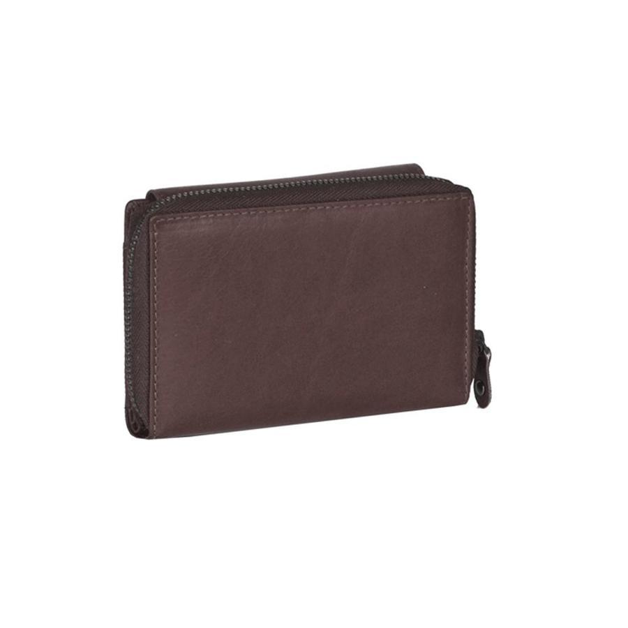 9b3ac9c5a72 Chesterfield Compacte Leren dames portemonnee met ritsvak Ascot Bruin