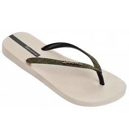 Ipanema Lolita beige zwart slippers dames