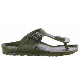 Birkenstock Gizeh Eva narrow donkergroen slippers kids