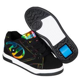 Heelys Propel 2.0 zwart regenboog foil sneakers kids