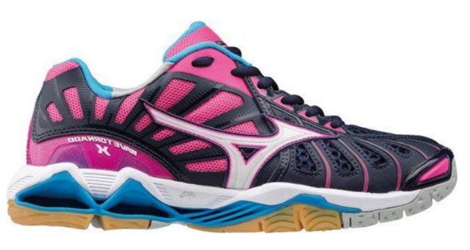eerste blik buy Goede prijzen Mizuno Wave Tornado X roze blauw indoor schoenen dames (V1GC161272)