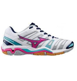 Mizuno Wave Stealth 4 wit indoor schoenen dames