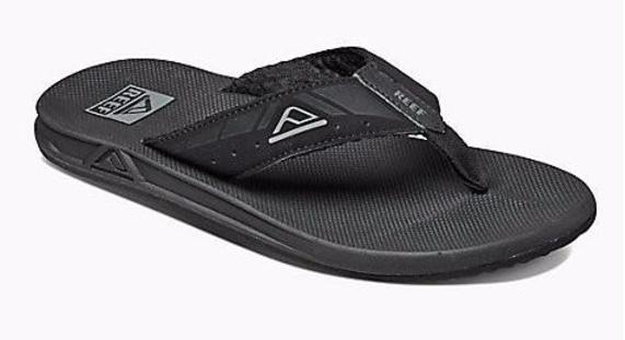 reef phantoms zwart slippers heren (r2046bla) - outletsportschoenen.nl