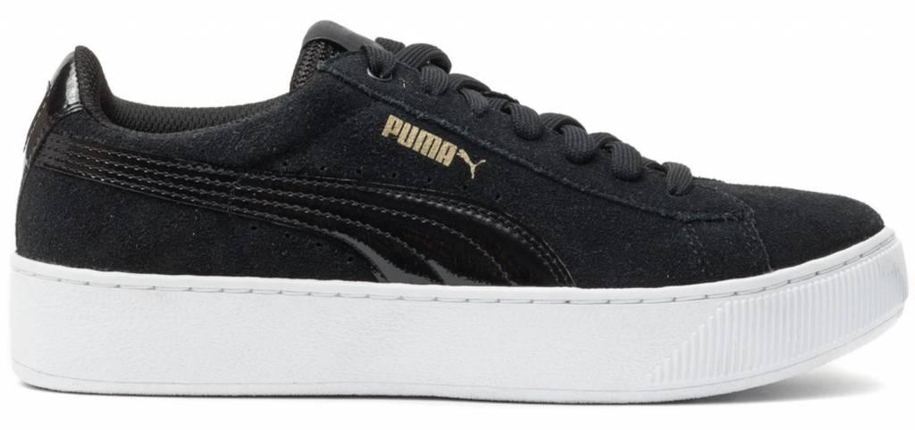 Puma Vikky platform zwart wit sneakers dames (363287 05)