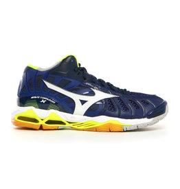 Mizuno Wave Tornado X Mid blauw volleybalschoenen heren