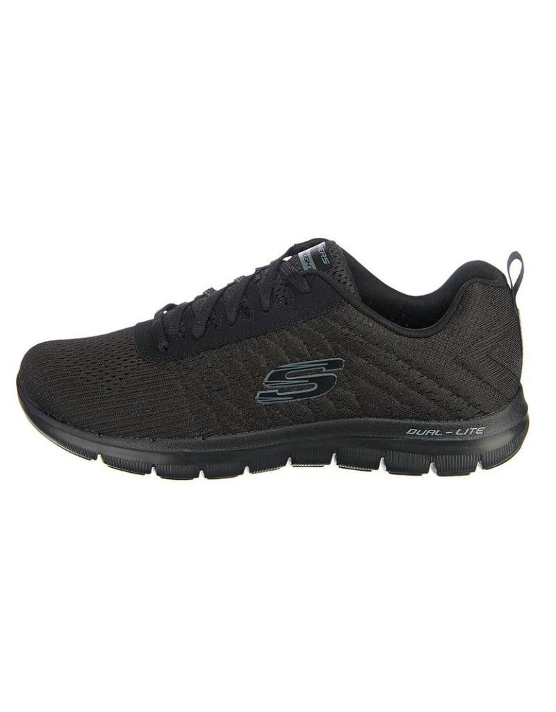 ac3d0485e76 Skechers Flex Appeal 2.0 Break zwart sneakers dames (12757 BBK ...