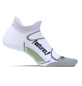 Feetures Elite Light Cushion wit grijs sportsokken uni