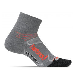 Feetures Elite Merino+ Cushion quarter grijs sportsokken uni