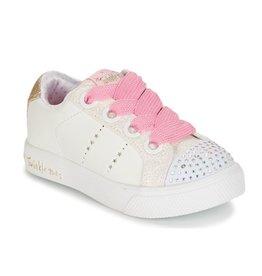 Skechers twinkle breeze 2.0 sidestars wit sneakers meisjes