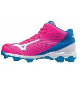 Mizuno 9-Spike Advance Franchise 9 Mid roze outdoor schoenen meisjes