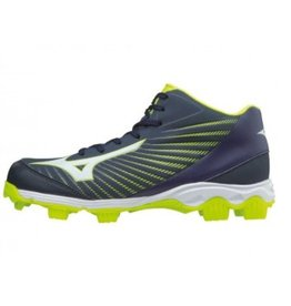 Mizuno 9-Spike Advance Franchise 9 Mid  blauw outdoor schoenen kids