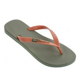 Ipanema Classic Brasil groen oranje slippers heren