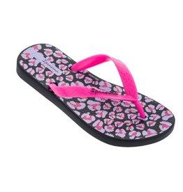 Ipanema Classic zwart roze slippers kids