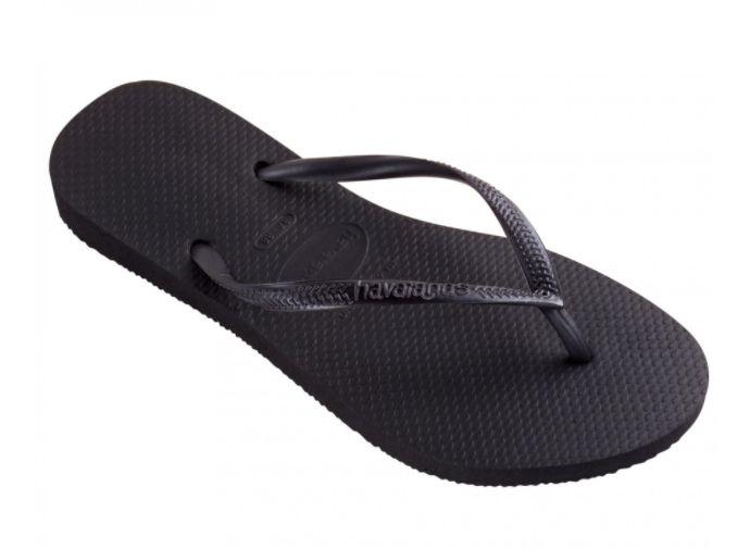 cb99b9c80ecfb9 Havaianas Slim zwart slippers dames - outletsportschoenen.nl