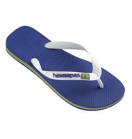 Havaianas Brasil logo marine blauw slippers uni