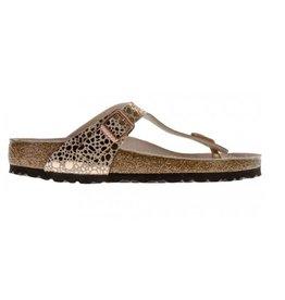 Birkenstock Gizeh Metallic Stones koper slippers dames
