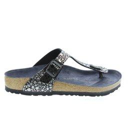 Birkenstock Gizeh Metallic Stones zwart slippers dames