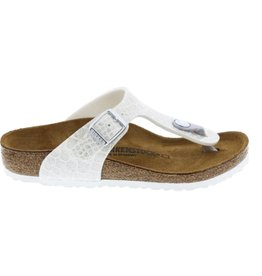 Birkenstock Gizeh Magic Snake wit narrow slippers meisjes