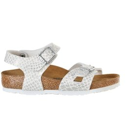 Birkenstock Rio Magic Snake wit narrow slippers meisjes