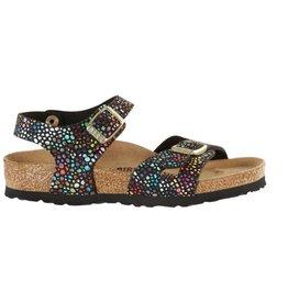 Birkenstock Rio oriental mosaic zwart narrow slippers meisjes