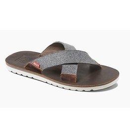 Reef Voyage Crossover bruin grijs slippers heren