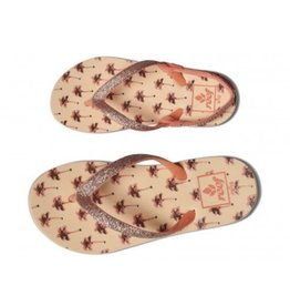 Reef Little Stargazer Prints palmbomen slippers meisjes