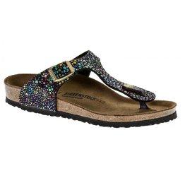Birkenstock gizeh oriental mosaic zwart narrow slippers meisjes