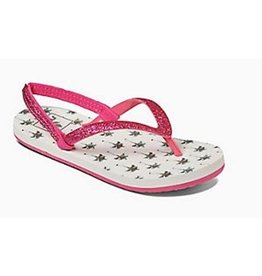 Reef Little Stargazer Prints wit palmbomen slippers meisjes