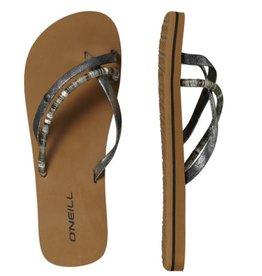 O'Neill FW Queen II zilver/zwart slippers dames