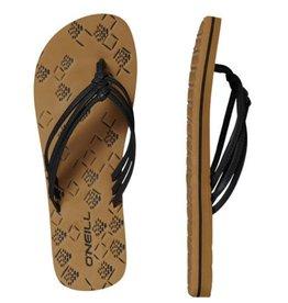 O'Neill FW 3 Strap Ditsy zwart slippers dames