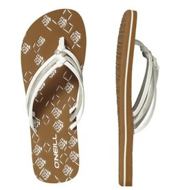 O'Neill FW 3 Strap Ditsy wit slippers dames