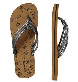 O'Neill FW 3 Strap Ditsy metallic zwart slippers dames