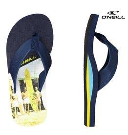 O'Neill FB Imprint Pattern blauw slippers jongens