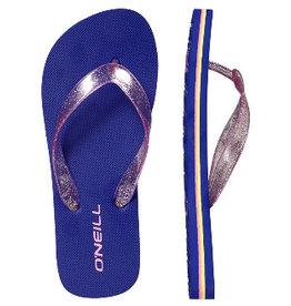 O'Neill FG Glitter Sol blauw roze slippers meisjes