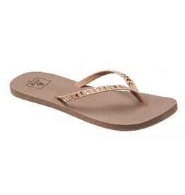 Reef Bliss Embellish rose gold slippers dames