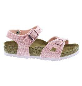 Birkenstock Rio Kids BF Magic Snake roze sandalen meisjes