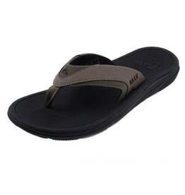 Reef Modern zwart bruin slippers heren