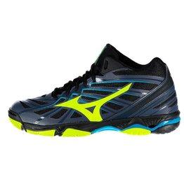 Mizuno Wave Hurricane 3 Mid donkerblauw indoor schoenen heren