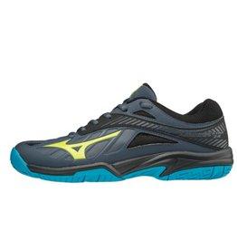 Mizuno Lightning Star Z4 Jr grijs blauw  volleybalschoenen kids